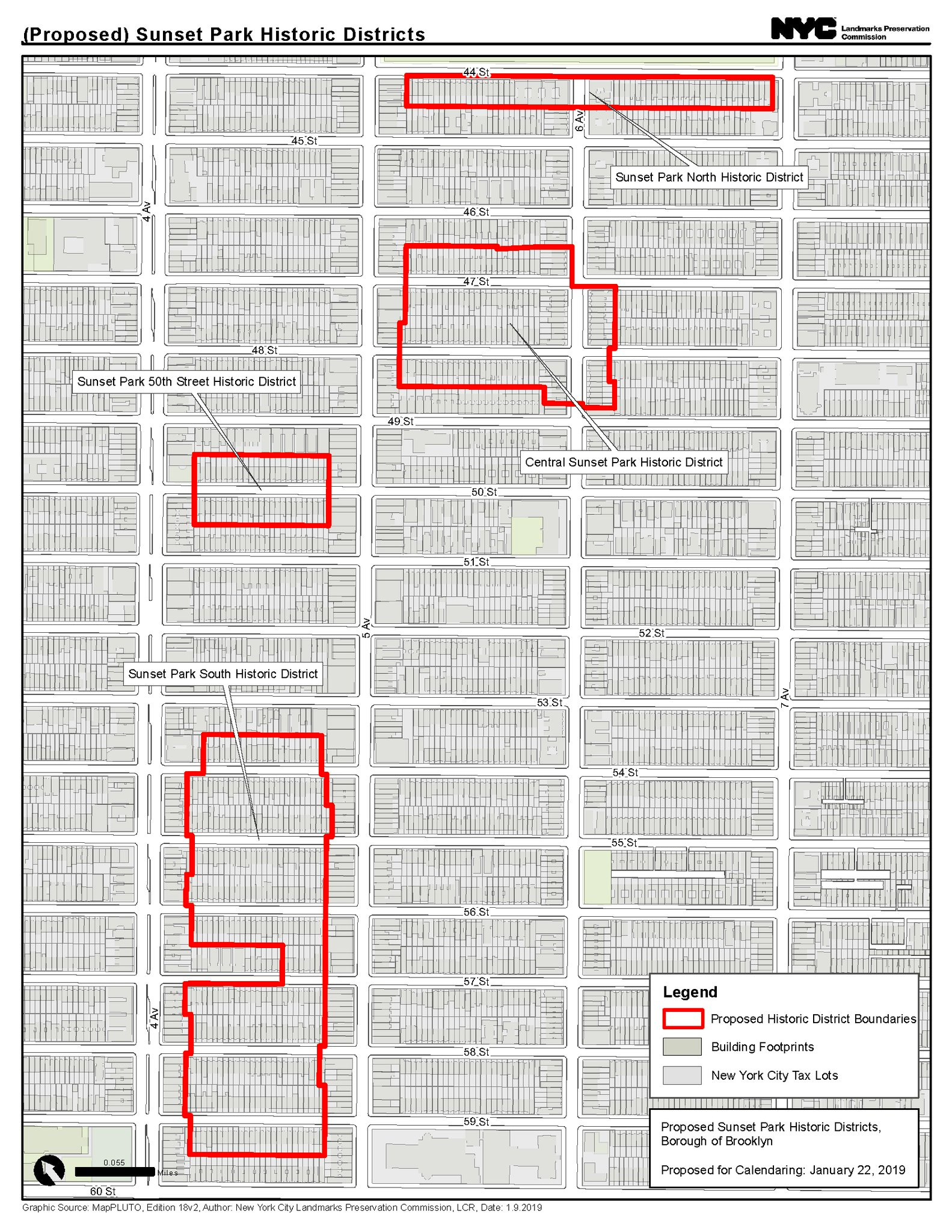 Sunset Park Landmarks Committee Map